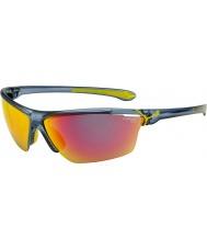 Cebe CINETIK grande translucide mat des lunettes de soleil bleu