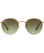 RayBan Rb3447 53 métal rond brillant moyen bronze lunettes de soleil 9002a6
