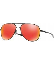 Oakley Oo4119-04 elmont m et l satin noir - lunettes de soleil rubis iridium