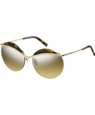 Marc Jacobs Mesdames marc 102-s J5G lunettes de soleil miroir gg or d'argent