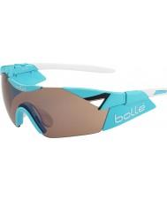 Bolle modulateur bleu brillant de 6ème sens rose des lunettes de soleil d'armes à feu