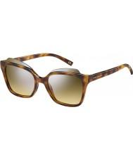 Marc Jacobs Mesdames marc 106-s n36 gg havane lunettes de soleil miroir d'argent