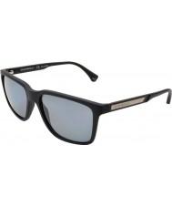 Emporio Armani Ea4047 56 lunettes de soleil modernes caoutchouc noir 506381 polarisées