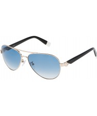 Furla Ladies su4339s-300 jade brillant or rose en miroir des lunettes de soleil d'argent