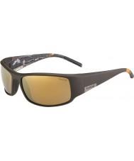 Bolle Roi mat mer brun lunettes de soleil polarisées or intérieures