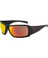 Cebe Utopy mat des lunettes de soleil orange noir