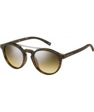 Marc Jacobs Marc 107-s n9p gg mat havane lunettes de soleil miroir d'argent