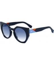 Fendi Ladies facettes ff 0151-s pjp u3 lunettes de soleil