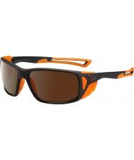 Cebe Proguide noir mat oranges 2000 brun éclair lunettes de soleil miroir