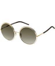 Marc Jacobs Mesdames marc 11-s apq ha or sombres lunettes de soleil havane