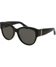 Saint Laurent Ladies sl m3 002 55 lunettes de soleil