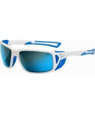 Cebe Proguide blanc brillant bleu 4000 minéraux gris lunettes de soleil bleu