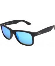 RayBan Rb4165 justin noir - miroir bleu