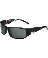 Bolle Roi mat noir orange zébrée lunettes de soleil polarisées de tns