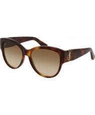 Saint Laurent Ladies sl m3 005 55 lunettes de soleil