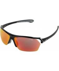 Cebe Sauvages brillant lunettes de soleil multicouches noir