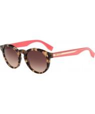 Fendi Couleur bloc ff 0085-s hK3 d8 havane lunettes de soleil rose