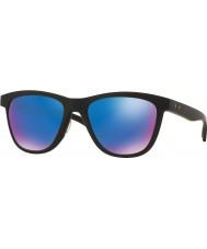 Oakley Oo9320-11 moonlighter noir mat - saphir iridium lunettes de soleil polarisées