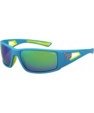 Cebe Session orange bleu 1500 miroir gris lunettes vertes
