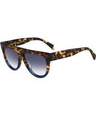 Celine Mesdames cl 41026-s FU9 dv tortue des lunettes de soleil bleu