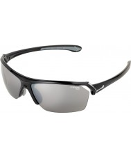 Cebe Sauvages lunettes de soleil noires brillantes