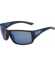 Bolle Noir mat bleu serpent-tigre lunettes de soleil bleu mer polarisées brillant