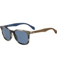 HUGO BOSS Mens boss 0843-s iwf corne 9a lunettes de soleil bleu brun