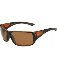 Bolle Brillant brun serpent-tigre noir mat grès polarisé lunettes de fusil