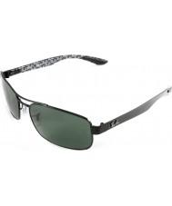 RayBan Rb8316 62 technologie fibre de carbone noir vert lunettes de soleil polarisées 002-n5