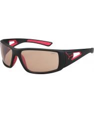 Cebe Session mat variochrom rouge noir lunettes de soleil perfo