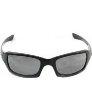 Oakley Oo9238-06 fives carré noir brillant - iridium noir lunettes de soleil polarisées