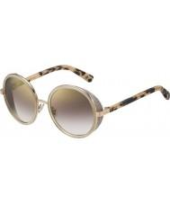 Jimmy Choo Ladies Andie-s j7a nh or nu havane lunettes de soleil miroir d'or