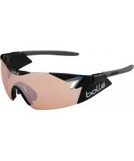 Bolle 6ème sens modulateur noir brillant rose lunettes de fusil