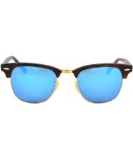 RayBan Rb3016 clubmaster sable tortoiseshell - miroir bleu