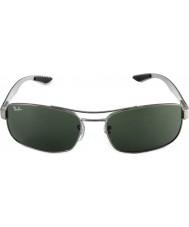 RayBan Rb8316 62 technologie gunmetal en fibre de carbone vert 004 lunettes de soleil