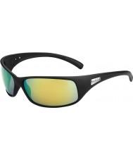 Bolle Recoil noir mat polarisés des lunettes de soleil d'émeraude brun