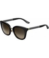 Jimmy Choo Mesdames Fabry-s FA3 j6 lunettes de soleil pailleté noir