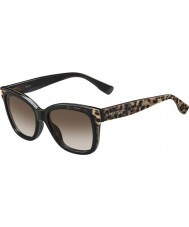 Jimmy Choo Ladies bebi-de PUE j6 lunettes de soleil noires animaux