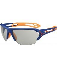 Cebe S-piste grand mat orange bleu lunettes de soleil variochrom de perfo