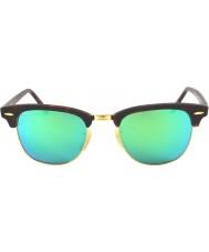 RayBan RB3016 51 sable Clubmaster écaille-or 114519 lunettes de soleil miroir vert