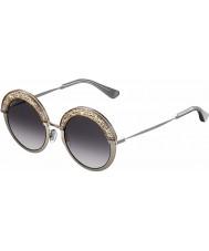 Jimmy Choo 68i 9c 50 des lunettes de soleil de palladium nues Ladies 'gotha-