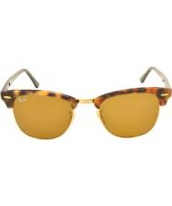 RayBan RB3016 51 clubmaster tacheté marron havana 1160 lunettes de soleil