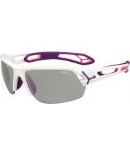 Cebe S-piste blanche moyenne lunettes de soleil perfo variochrom violet