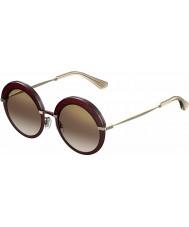 Jimmy Choo gotha-s Ladies 65L qh lunettes de soleil miroir bourgogne or