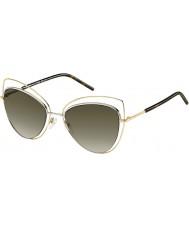 Marc Jacobs Mesdames marc 8-s apq ha or sombres lunettes de soleil havane