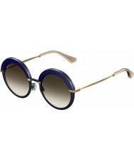 Jimmy Choo Ladies-gotha de bleu lunettes de soleil d'or de 3UE de