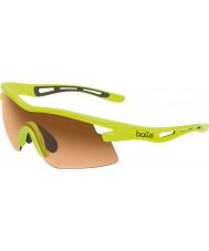 Bolle Vortex néon modulateurs jaune lunettes de soleil ambre