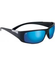 Serengeti Fasano noir brillant polarisé phd 555nm lunettes de soleil miroir bleu