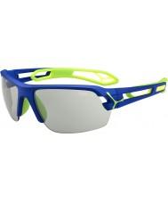 Cebe S-piste bleu foncé moyen lunettes de soleil perfo variochrom vert
