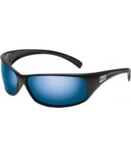 Bolle Recoil brillant polarisées lunettes de soleil bleues au large noir